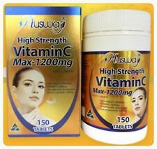 Ausway Super Strength Vit C Max 1200mg.Premium Supplements Skin Relex Refresh