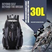 30L Outdoor Hiking Camping Waterproof Nylon Travel Luggage Rucksack Backpack Bag