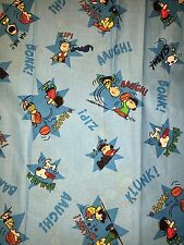 """30""""x44"""" CHARLIE BROWN SNOOPY PEANUTS COTTON FABRIC REMNANT"""