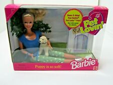 Pet Lovin' Barbie with puppy Barbie 1998 Mattel's #23007 Nrfb