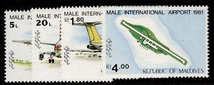 MALDIVE ISLANDS QEII SG936-939, 1981 male intl airport set, NH MINT.