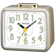 Rhythm 4RA457WR18 Glockenwecker Kunststoff analog Alarm WEISS