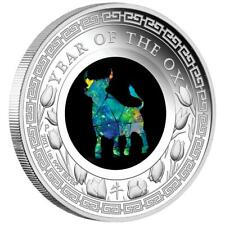 Australien - 1 Dollar 2021 - Jahr des Ochsen - Opal-Serie (6.) - 1 Oz Silber PP
