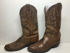 MENS JUSTIN COWBOY BROWN BOOTS SIZE 8 EE
