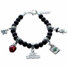 Teacher Charm Bracelet in Silver