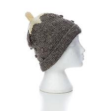 Tejido a mano FRESA estilo invierno de lana gorro, talla única, unisex sth31