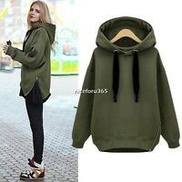 Spring Women Zip Hem Hoodie Jacket Coat Sweatshirt Outerwear Hooded Sweater Tops