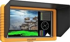 "LILLIPUT 5"" Q5 FHD Metal slim Waveform Time code SDI/HDMI cross + LP-E6 Battery"