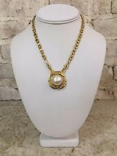 18KYG Diamond and Mabe Pearl Necklace