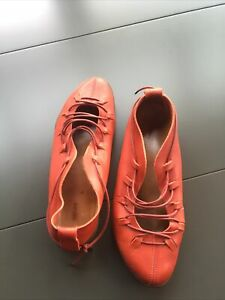 Trippen 41 Ballerina Rot Leder Schuhe
