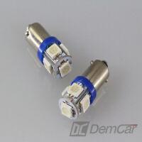 2x LED Lampe 5 x5050 SMD H6W BA9S Couleur Bleu