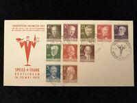 Berlin Bund 20.05.1955-MiNr.91-100 (komplett)Sonder Brief Fachmesse Speise+Trank