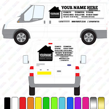 Removals Van Sign, Large Custom Vinyl Van Decal, Removals Van lettering