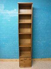 ONE -TALL SOLID WOOD BOOKSHELF / CABINET 1 DRAWER- H207 W43cm - 1 more available