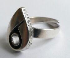 Sten & Laine montaña cristal anillo 925 plata Finland vintage 70er Modernist