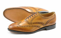 Loake Men's Tan Calf Brogue Shoes - Welted Leather Sole (F Fitting) RL564