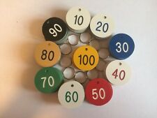 Set of 100 quality engraved 38mm dia. discs OTHER SIZES AVAILABLE