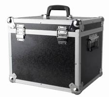 "LP100 100 x 12"" Vinyl Record Box Storage Flight Case BLACK"