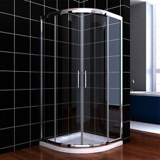 900x900mm Quadrant Shower Enclosure Glass Screen Corner Cubicle Easy Clean Glass