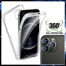 COVER 360° FRONTE RETRO + PELLICOLA VETRO FOTOCAMERA PER APPLE IPHONE 12 PRO