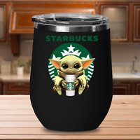 Starbucks Baby Yoda Star Wars Cute Yoda Starbucks Wine Tumbler Coffee Travel Mug