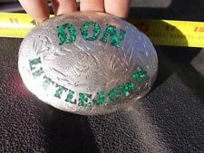 Vintage J Tedder Design Turquoise  Western Belt Buckle Don Littlejohn Yuma DJ