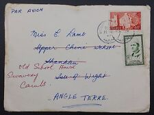 Morocco to GB 1959 Redirected Cover Casablanca 》Shanklin IOW 》Swavesey Cambs