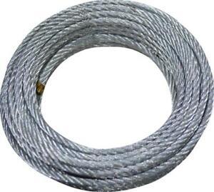 100m 3mm FUNE ACCIAIO ZINCATO filo metallo corda cavo cima galvanizzato 1m