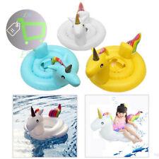 Niños Bebé Inflable Natación Anillo Float Raft Flamingo Unicornio asiento piscina