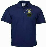 USS NEBRASKA  SSBN-739  SUBMARINE NAVY EMBROIDERED LIGHT WEIGHT POLO SHIRT