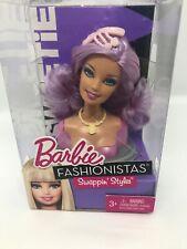 Barbie Fashionistas Swappin Styles Purple Hair Doll Head