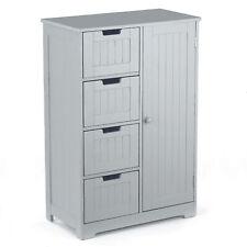 Badezimmerschrank Kommode Badschrank mit 4 großen Schubladen Flurschrank Y7A2