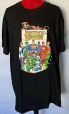 NEW VINTAGE JUSTICE LEAGUE TEE DC COMICS 1992 SUPERMAN BATMAN BLACK SIZE XL **ZZ
