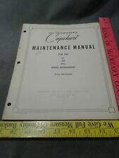 Capehart Maintenance Manual P4 N4 Series 1948