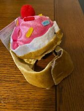 PET COSTUME Cupcake Hat / Bonnett Headpiece Dog Cat Size XS-Small Adjustable Toy
