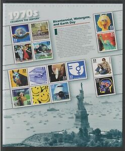 USA - 1999, The 20th Century, 7th Issue sheetlet - M/M - SG 3705/19