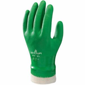Showa Gloves SHO600-XL No.600 Jersey Wrist Glove, Size: X-Large, Green