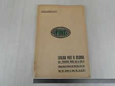 CATALOGO PARTI DI RICAMBIO ORIGINALE 1926 CHASSIS FIAT 501 501 501 S NO ILLUSTR.