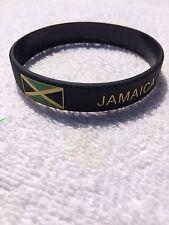 KINGSTON~SILICONE~RASTA~JAMAICA~SELASSIE~BRACELET~ETHIOPIA~RASTAFARI~NEW