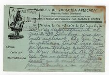 Chile 1915 Taxed stationery to Argentina Advertising ZOO Microscope Medicine