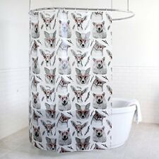 Splash Home PEVA 5G Woodland Creatures Shower curtain Liner Design for Bathroom