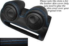 BLUE STITCH RADIO SURROUND LEATHER SKIN COVER FITS LOTUS ELISE EXIGE S2 07-13