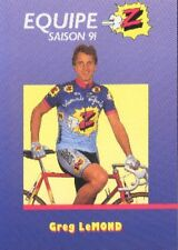 GREG LEMOND Cyclisme Cycling Cycliste Team Z PEUGEOT 91 Tour de France winner