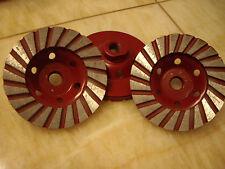 45 Spiral Turbo Concrete Grinding Cup Wheel 4 Piece Diamond Stone Sanding Disc