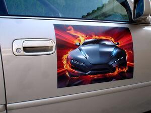 "6"" x 12"" Custom Magnets Magnetic Signs Full Color, Car Truck Van"