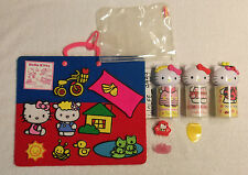 HELLO KITTY LOT felt board ring hair clip storage containers picnic pals USED