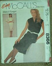 pullover dress pattern Vintage 80s size 10 easy uncut