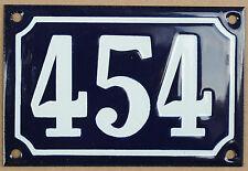 CASA Francese Blu numero 454 Porta Cancello Piastra Placca in Acciaio Smaltato Metallo Segno