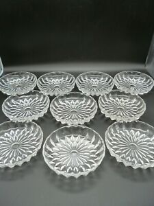10 Glas Teller Dessert- Schalen- m. Muster - NEU -