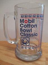 """Mobil COTTON BOWL CLASSIC (1937-1994) NOTRE DAME 24 TEXAS A&M 21 5.25"""" Glass Mug"""